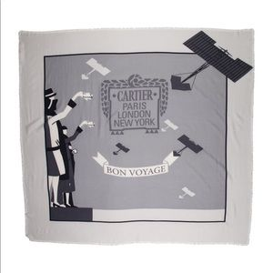 Large Cartier wool scarf
